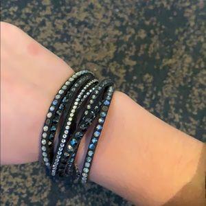 bf4807828 Women Swarovski Bracelet Black Crystal on Poshmark